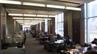 Image of study space in Morrison Pavilion