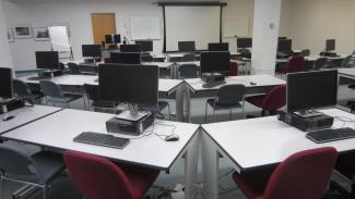 Image of Gerstein Instruction Lab computer workstations